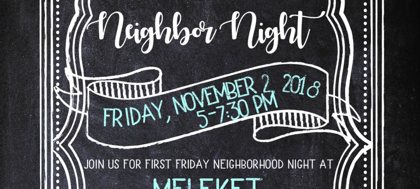 First Friday Neighbor Night